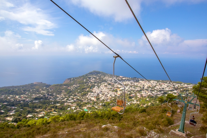 Chairlift to top of Monte Solaro Capri