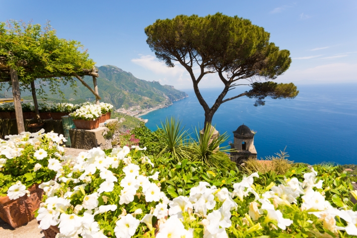 View from gardens of Villa Rufolo, Ravello
