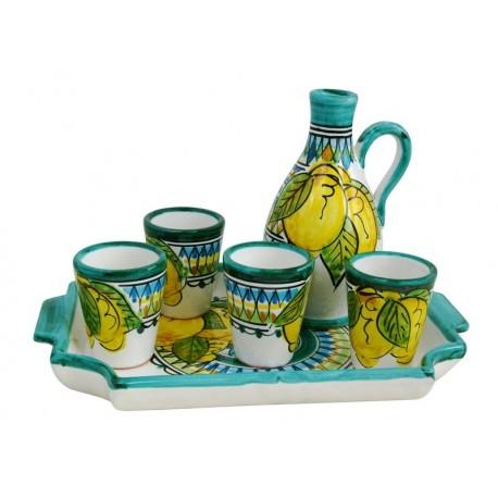 Ceramic Limoncello set from L'Artigianato