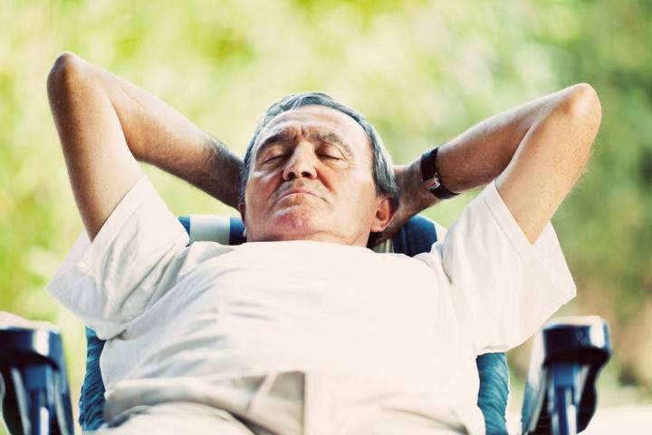 Italian man sleeping