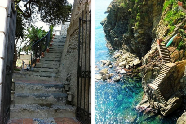 Stairs on the Amalfi Coast